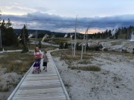Hiking to Castle Geyser