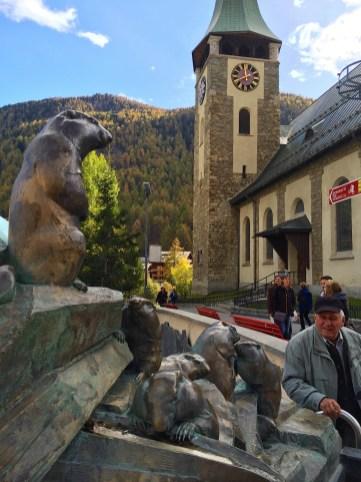 Zermatt marmot monument