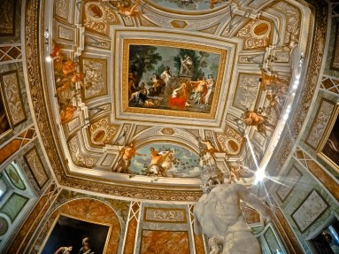 Ceiling in Borghese Gallery - Rome, Italy