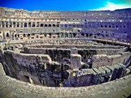 These passages were covered in the gladiator days