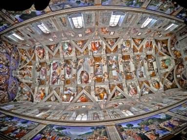 GoPro shot of Sistine Chapel ceiling