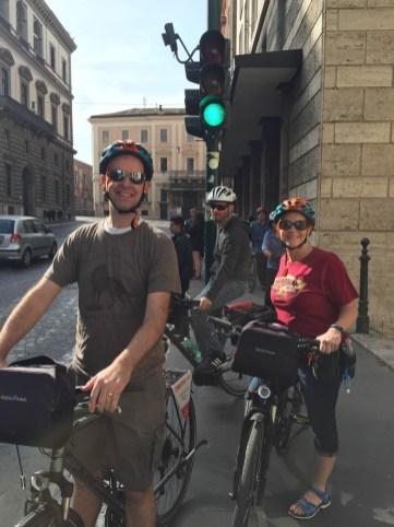 Bike tourists