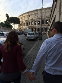 On the way to the Colosseum