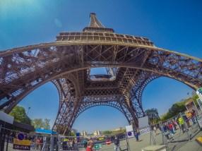 Beneath the Eiffel Tower