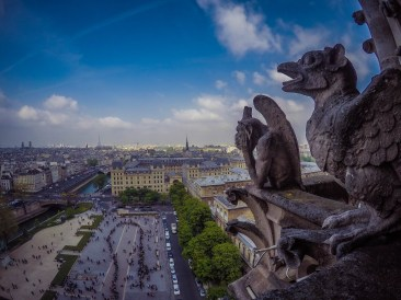 Gargoyle bored with tourists