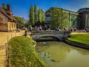 Versailles - Marie Antoinette peasant village - bridge and carp
