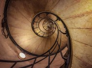 Staircase to Arc de Triomphe