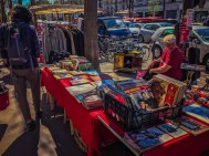 Flea market near Pere Lachaise - Savage Young Beatles record on display