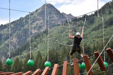 High adventure ropes course