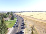 Lining up South 2nd East in Rexburg