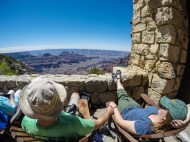 Lovers at the Grand Canyon