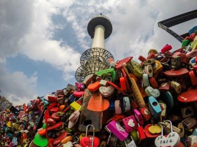 N Seoul Tower love locks