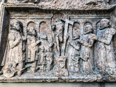 Relief on Frauenkirche in Munich