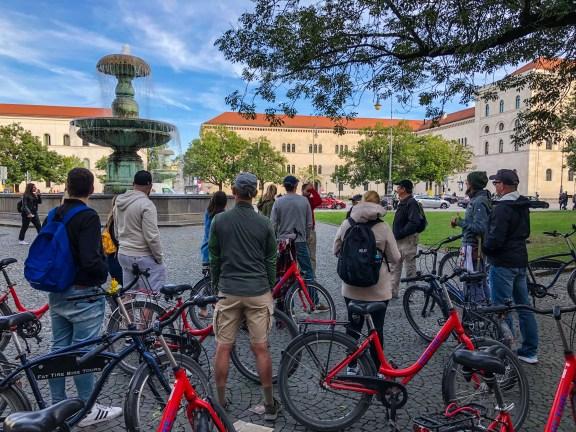 Fat Tire Bike tour in Munich - at Eulenbrunnen