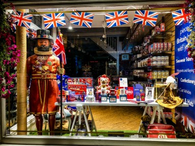 Tourist shop in Windsor, UK