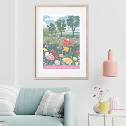 lifestyle image of wildflower illustration, Torquay