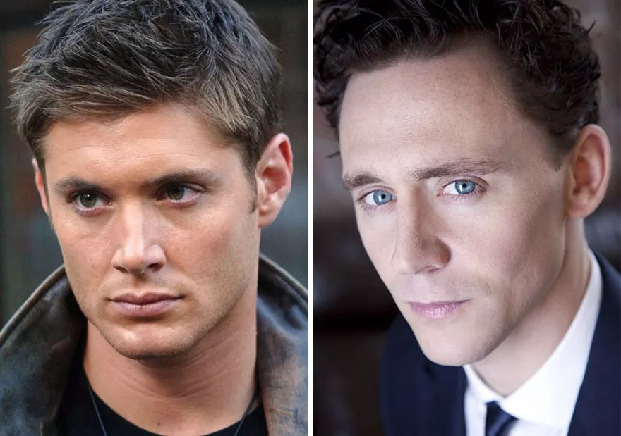 Jensen Ackles and Tom Hiddleston