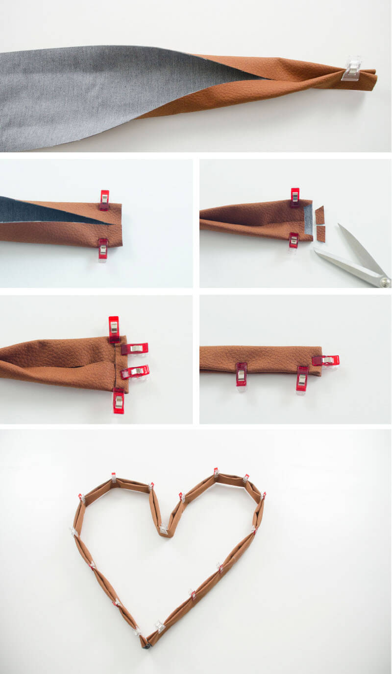 Gürtel nähen, wie nähe ich einen Gürtel, Kunstleder nähen, DIY