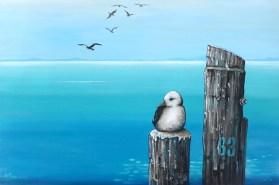 Mary Conder | Sixty three | Acrylic on canvas | 500 x 760mm | $950