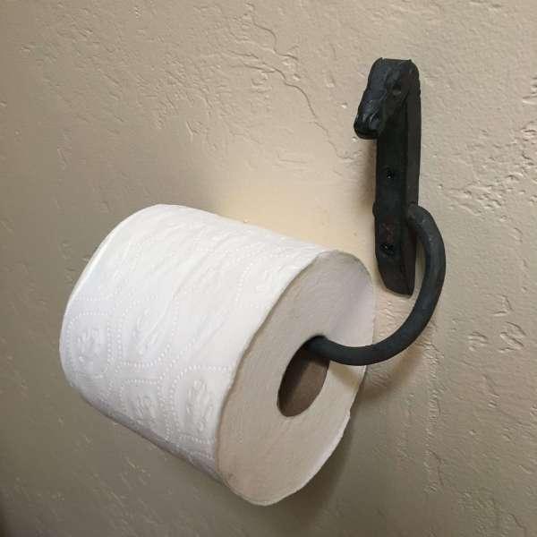 horse head toilet paper holder