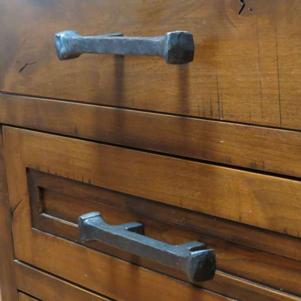 wrought iron drawer pull