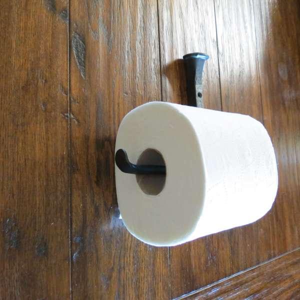 Hammered Square Toilet Paper Holder