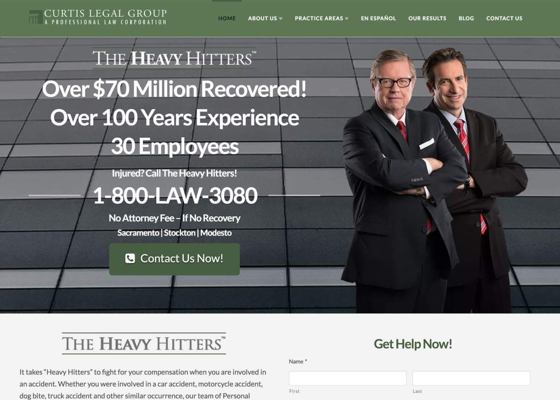 Curtis Legal Group Website