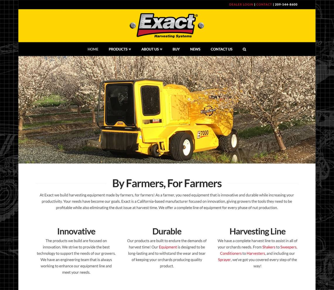 ExactCorp Innovative Nut Harvesting Equipment