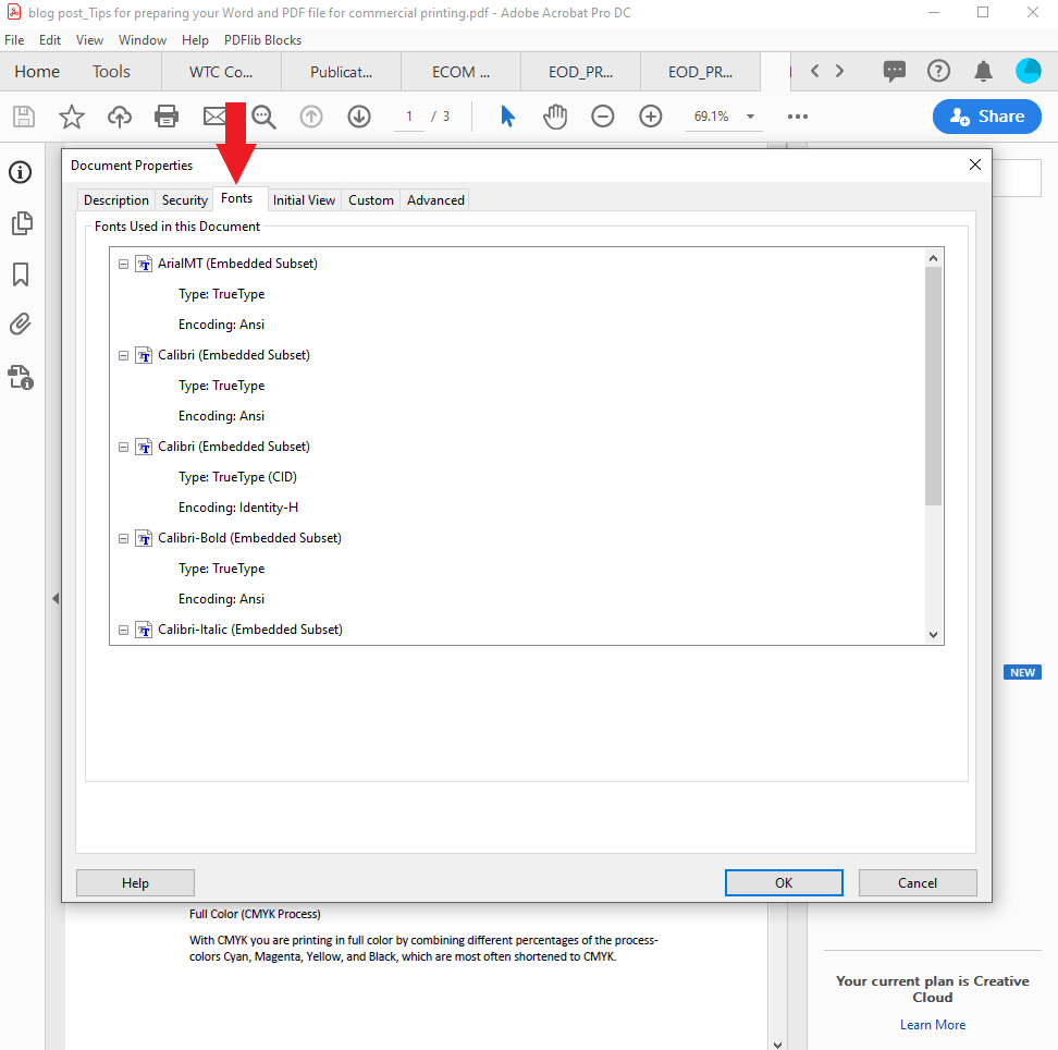 Converting Your Word file to PDF