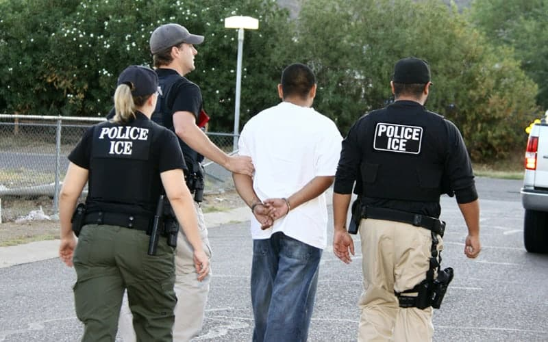 File photo: ICE making an arrest
