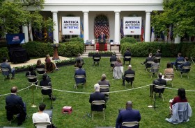 COVID testing sites removed at White House