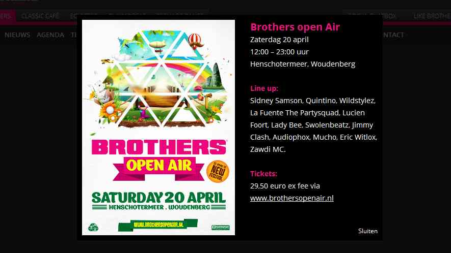 brothers open air