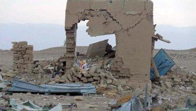 Bommen op het antieke Baraqish