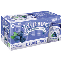 Waterloo sparkling water blueberry can 12oz -Case of 8