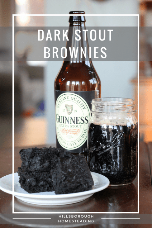 dark stout brownies