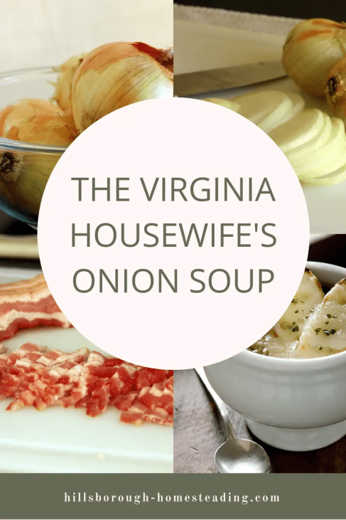 the virginia housewife's onion soup