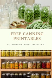 free canning printables