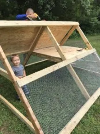 how to build an a frame chicken coop cheap frugal easy fast DIY home homestead poultry