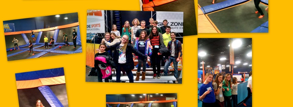 HCC Youth at SkyZone for New Year's Party