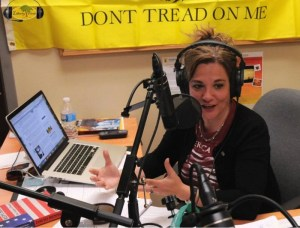 KrisAnne Hall speaking about religious freedom on her radio show