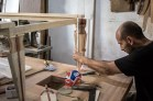 insertion of acrylic in the wood