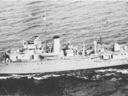 The HMAS Parramatta at sea in 1940