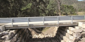 The new bridge on Upper Macdonald Rd which is just over 14.454km from St Albans