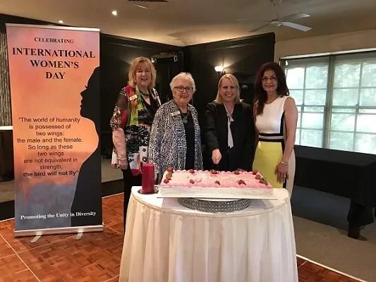Donna Fraser, Shirley Purser, Mayor Michelle Byrne and Carmen Lalehzari