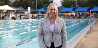 Mayor Byrne at Waves Pool