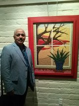 Artist Art Garino and is large mosaics, which filled the Gallery!