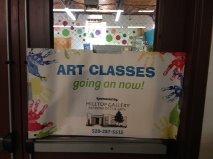 Banner at Boys & Grisl Club artroom door