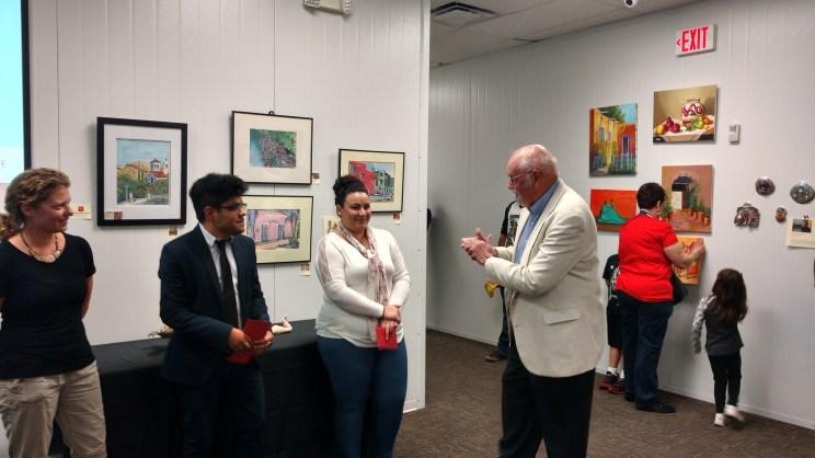 Hilltop president Derwent Suthers award cash scholarships