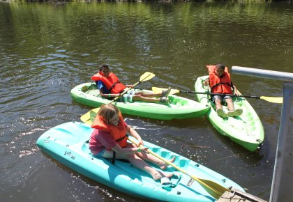 Children kayaking