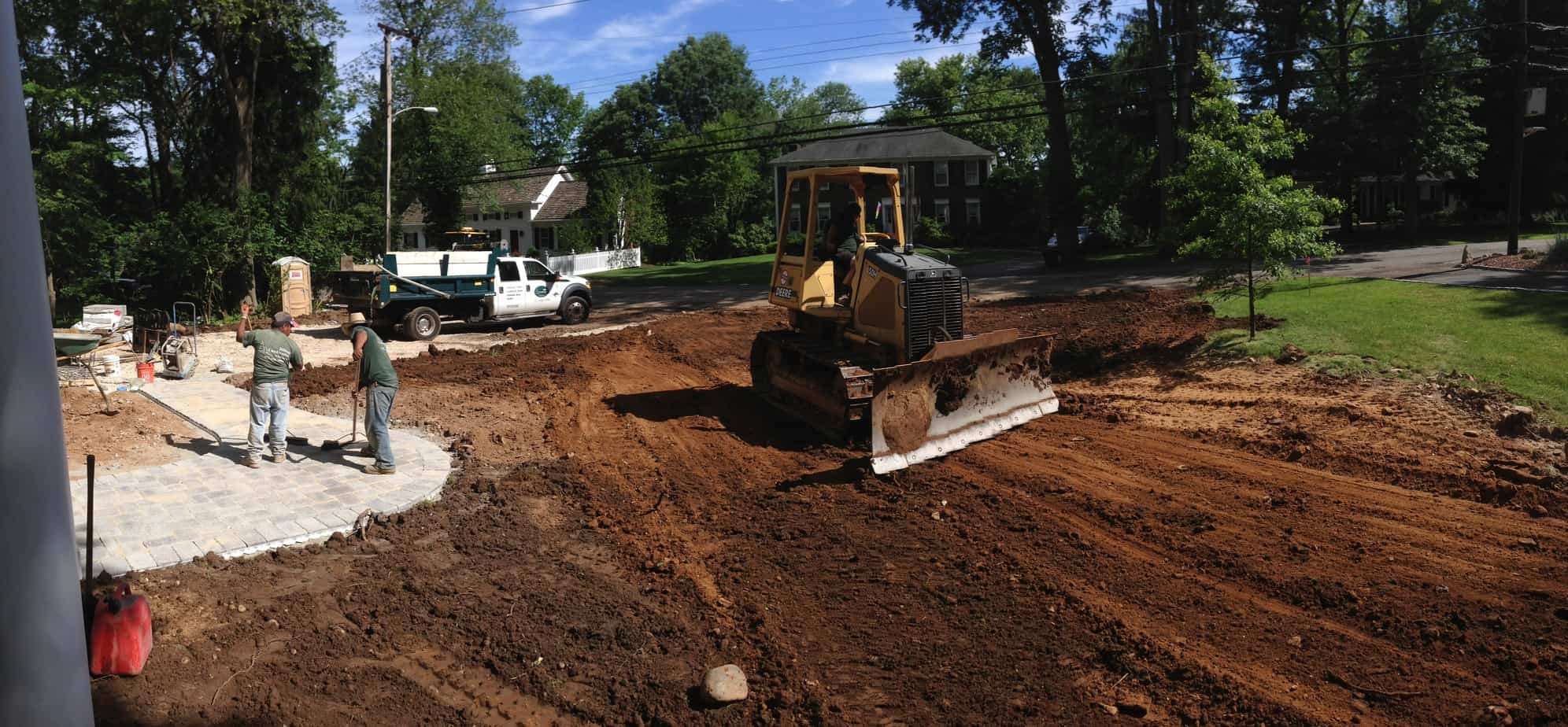 New Construction Grading Driveway Walk Lawn Florham